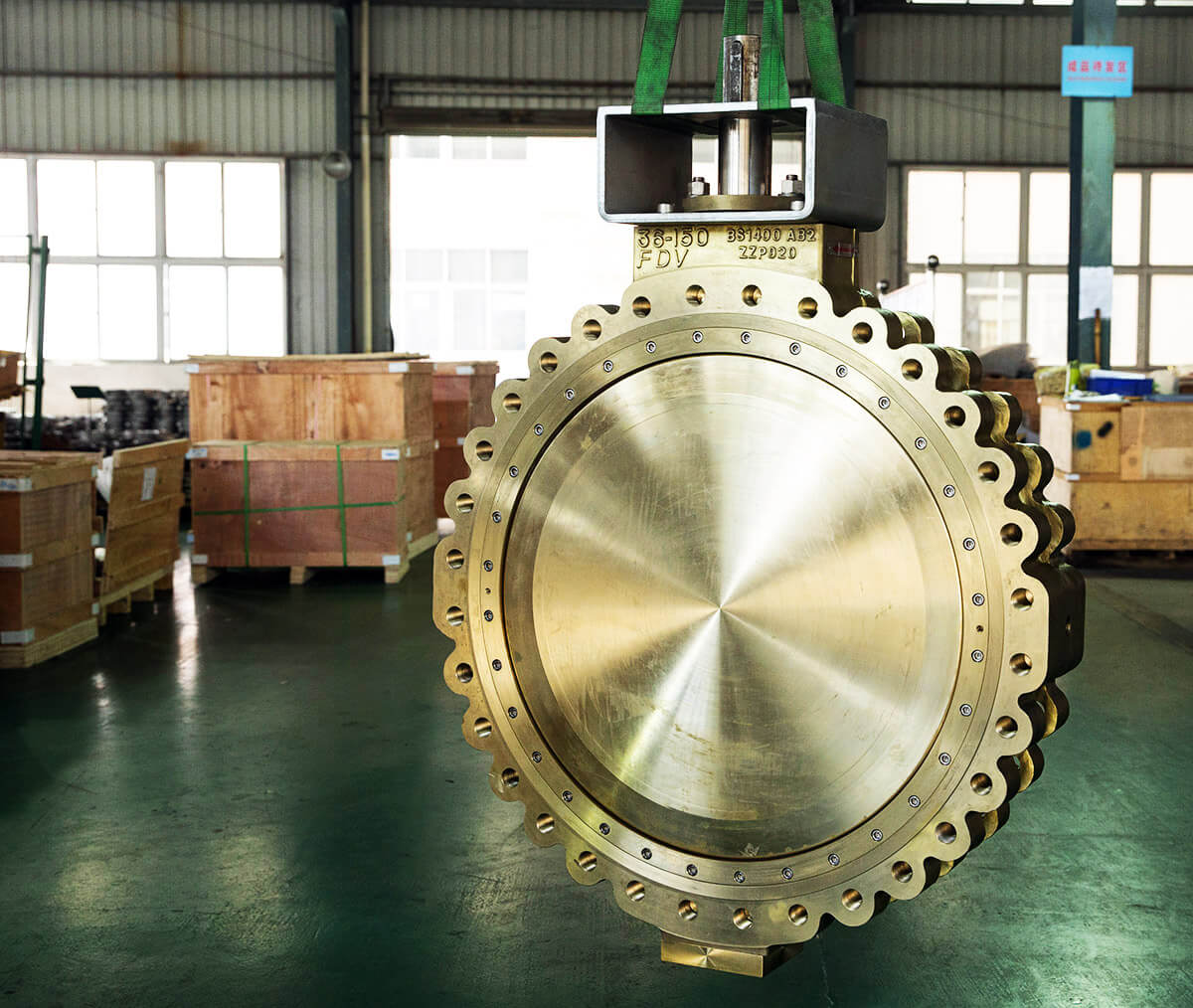FDV  36 & 48 inches Aluminium Bronze high performance butterfly valves & dual plate check valves are ready to ship